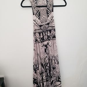 Free People maxi dress high low